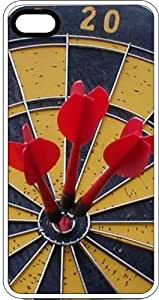 Dart Board With Three In the Bulls Eye Clear Plastic Case for Apple iPhone 4 or iPhone 4s