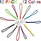 Best Key Ring For Straps - 12 Pack Short Colorfull Hand Wrist Lightweight Lanyard Review
