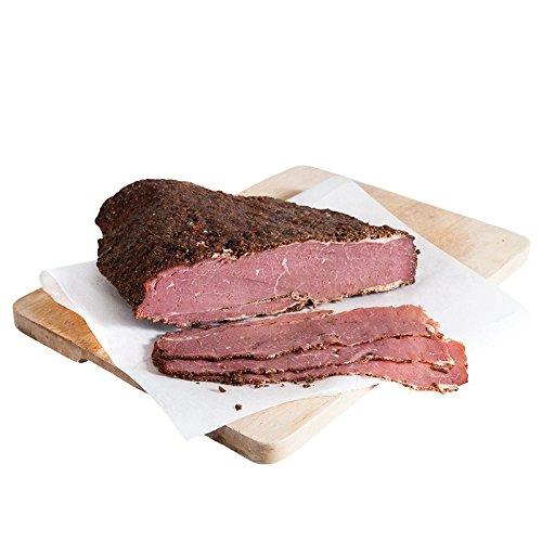 Die Premium Alternative zu Schinken und Salami: Original American Rinderbrust Pastrami Brisket im würzigen New York Style - saftiger Sandwichbelag oder Aufschnitt - 1 Kg mit Kühlboxversand