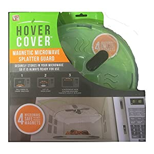 Hover Cover - Magnetic Microwave Splatter Lid With Steam Vents - As Seen On TV