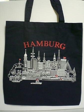 Damen Tasche Geldbörse Portemonnaie Hamburg Skyline