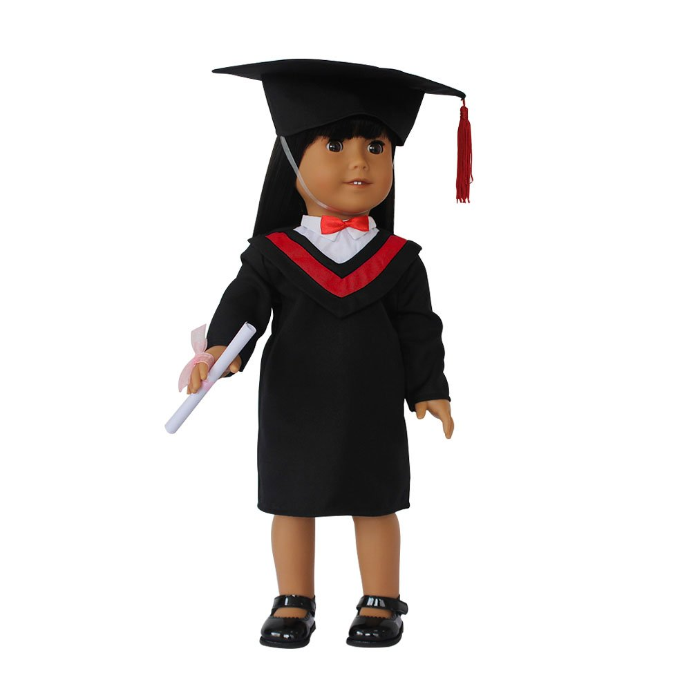 Amazon.com: Old-Fashion Doll Graduation Gown Cap Tassel For 18 ...
