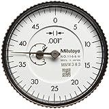 "Mitutoyo Dial Indicator, Inch, #4-48 UNF Thread, 0.375"" Stem Diameter, Back Plunger"