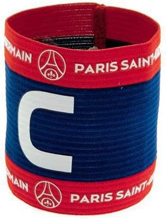 Paris Saint Germain FC Official - Brazalete de capitán de fútbol con escudo (Talla Única/Azul/Rojo): Amazon.es: Ropa y accesorios