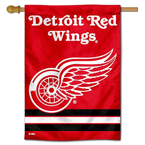 Detroit Red Wings Two Sided House Flag Detroit Red Wings Flag