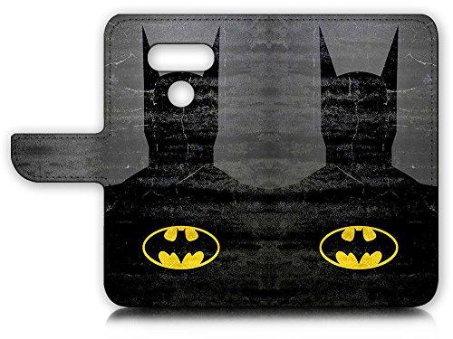 LG G6 Flip Wallet Case Cover & Screen Protector Bundle! A20058 Batman Super Hero at Gotham City Store
