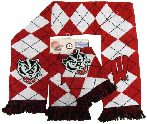 - Donegal Bay NCAA Wisconsin Badgers 2-in-1 Argyle Scarf