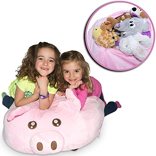 Jumbo Stuffed Animal Storage Bean Bag -