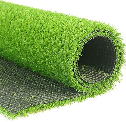 人工芝草芝生、現実的な人工芝マット、ペットのための屋内屋外の庭の芝生の風景、排水穴付きフェイクフェイク草ラグ (Color : Light 7FT, Size : Width 2m)