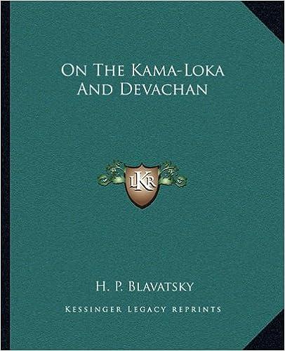 Book On The Kama-Loka And Devachan
