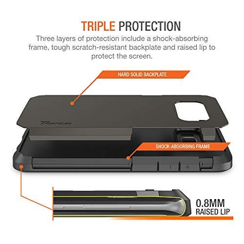 Trianium Galaxy S8 Case, [Duranium Series] Samsung Galaxy S8 Holster Belt Clip Heavy Duty Premium Protective Kickstand Extreme Protection Shock Absorption Cover 2017 - Gunmetal by Trianium (Image #3)
