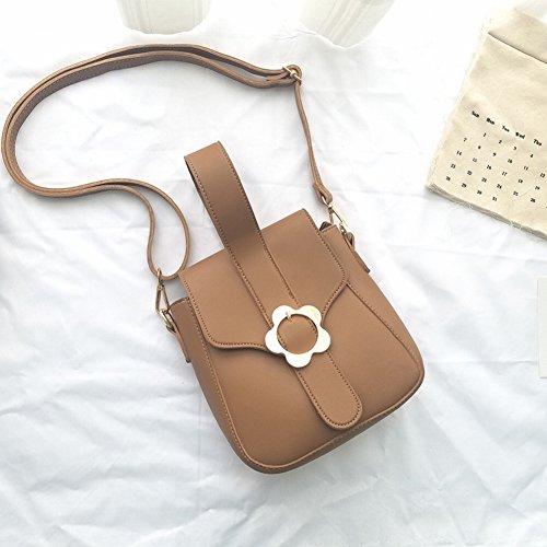 Retro Kleine Quadratische Tasche Weibliche Tasche Umhängetasche Schnalle Pu Umhängetasche Weibliche Handtasche , grau