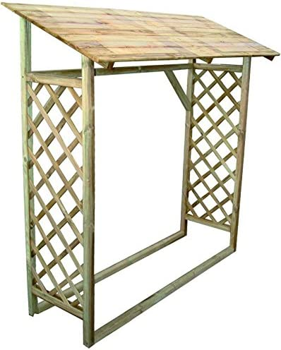 Blinky 7969818 leñera de madera, modelo Magnolia, de pared: Amazon.es: Bricolaje y herramientas