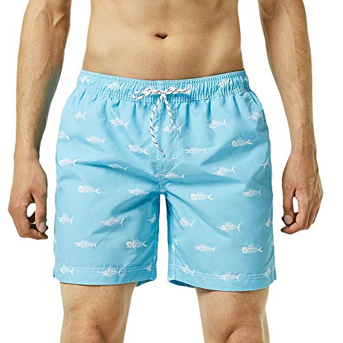 (MaaMgic Mens Boys Short Swim Trunks Funny Shark Swim Suits Shorts Swimming Trunks Bathing Suits )