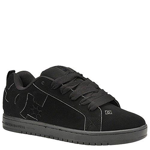 DC Shoes Men's Court Graffik Skate Shoes Black/Black/Black 11.5 (Kids Dc Shoes Mens)