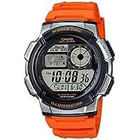 CASIO 男式 ' 10年电池 ' 石英树脂自动手表,(型号: ae1000W-2av)