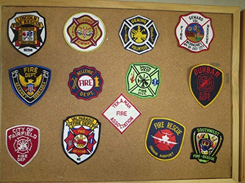 NEBRASKA FIRE/RESCUE DEPARTMENT PATCHES! SET TWO! LOT OF 13!