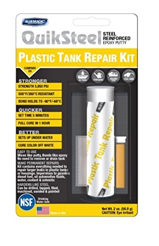 Blue Magic 6522K QuikSteel Plastic Tank Repair Kit Gas Tank Leak Repair