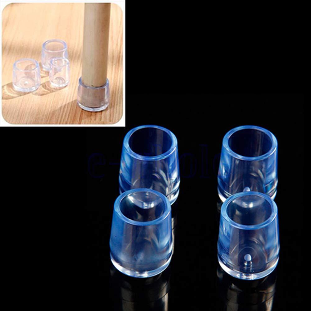 jhtceu 4/pz trasparente gomma mobili sedia da tavolo gamba pavimento piedi tappo copertura protettiva 21mm