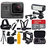 GoPro HERO5 Black + SanDisk Ultra 32GB Micro SDHC Memory Card + Hard Case + Chest & Head Strap + Flexible Tripod + Extendable Monopod + Floating Handle + LED Video Light - Great Value Accessory Bundle