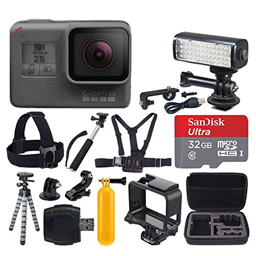 GoPro-HERO5-Black-SanDisk-Ultra-32GB-Micro-SDHC-Memory-Card-Hard-Case-Chest-Head-Strap-Flexible-Tripod-Extendable-Monopod-Floating-Handle-LED-Video-Light-Great-Value-Accessory-Bundle