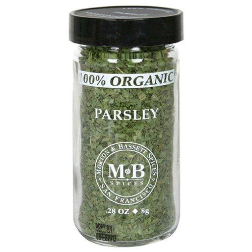 Morton & Bassett Organic Parsley, .28-Ounce Jars (Pack of 3) by Morton & Bassett