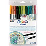 Uchida 12 Piece Colorin Le Plume II Coloring Book Pens, Natural