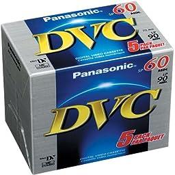 Panasonic AY-DVM60EJ5P MiniDV Tapes (60 Minute, Pack of 5)