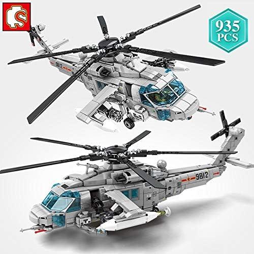 XIAOSHAN Stad Politie Technic Militaire Serie Gewapende Helikopter Bouwstenen AVIC Vliegtuigen Bakstenen Speelgoed voor Kinderen