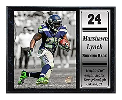 Encore Select 521-07 NFL Seattle Seahawks Marshawn Lynch Stats Plaque, 12-Inch by 15-Inch