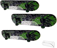 HAI+Longboard Skateboards Wall Mount Invisible Clear Wall Hanger Display Rack for Storing Your Skateboard or L