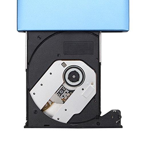 DLPIN USB 3.0 Ultra Portable External CD DVD RW DVD ROM Drive/Writer/Burner for Laptops, Desktops, Notebooks Mac, Macbook Pro Air iMAC (Blue) by DLPIN (Image #3)