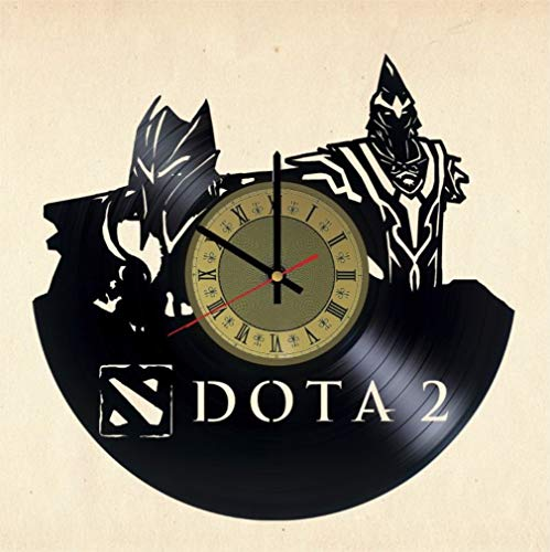 Dota 2 Vinyl Clock | Blizzard | Best Gift Warcraft Fans | Gamer Room Wall Decor