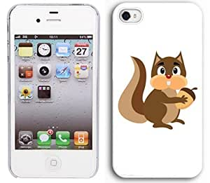 Apple iphone 6 plus White 5W29 Hard Back Case Cover Cute Squirrel with Acorn WANGJING JINDA