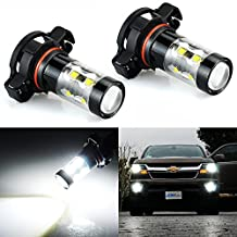 JDM ASTAR Extremely Bright Max 50W High Power 5202 5201 LED Bulbs for DRL or Fog Lights, Xenon White