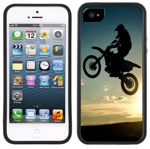 Moto cross   Fait à la main   iPhone 5c   Etui Housse noir