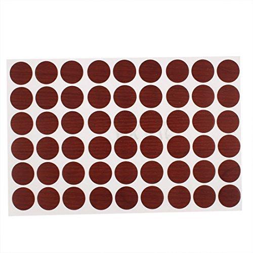 EbuyChX Plastic Self-Adhesive Screw Hole Covers Caps Stickers 54 in 1 Burgundy