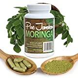 Organic Moringa Oleifera Powder Capsules Superfood Supplement, Natural Detox, Energy Booster, Beauty, Mind and Body Health Enhancer - Pure Raw Vegan / Vegetarian Non-GMO 800mg One Month Supply