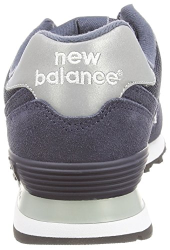 Mens New Balance 574 Suede Lace Up Retro Running Classic Sneakers Blue bbvAvqj8gM