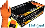 UNISEAL OPTIMUS PRO Dual Layer and Color Nitrile Exam Gloves 8 mil 12'' Cuff (X Large 100 gloves)