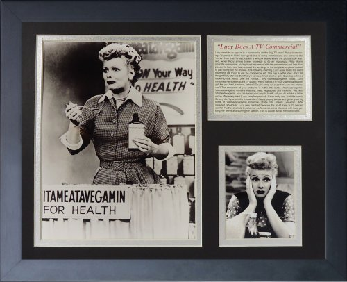 Legends Never Die I Love Lucy Vitameatavegamin Framed Photo Collage, - Lucille Ball Autographs