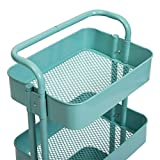 3 Tier Metal Cart, Rolling Cart with Removable