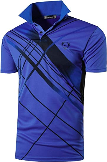 54de413bac Sportides Boy's Men's Quick Dry Sport Short Sleeve Breathable Polo T-Shirt  Tee Top LBS710