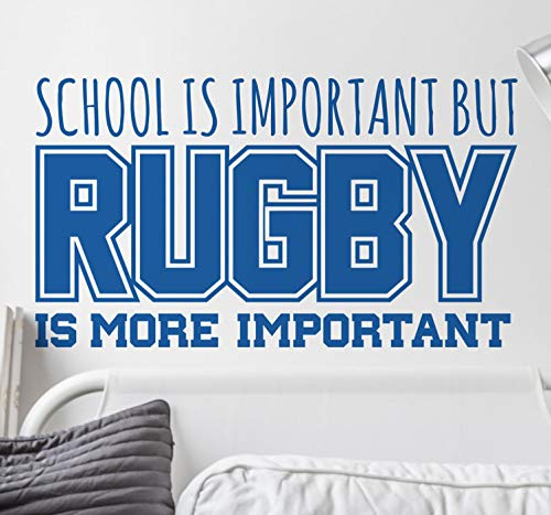 quantd Wall Words Sayings Removable Lettering School VS Rugby Wall Sticker for Living Room Bedroom