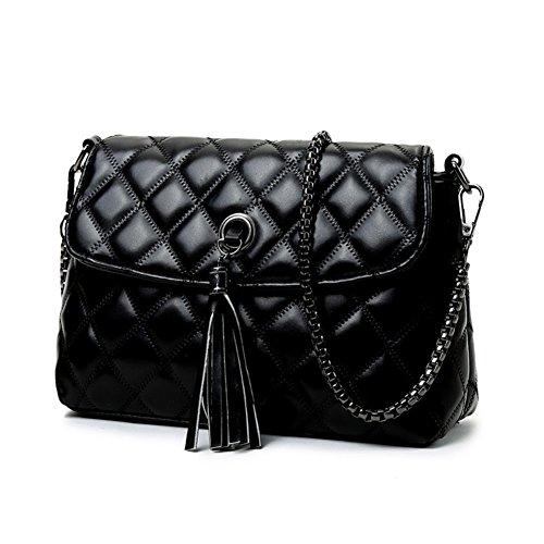 Walcy Hb900212c1 Fashion Pu Leather Korean Version Women's Handbag Square Cross-section Lingge Chain Bag