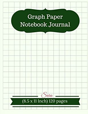 Graph Paper Notebook Journal 1 2 Squared Graphing Blank Quad Ruled Coordinate Grid Spiral For Write Drawing Note
