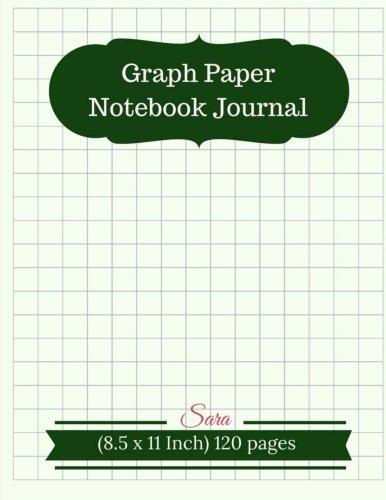 Graph Paper Notebook Journal : 1/2