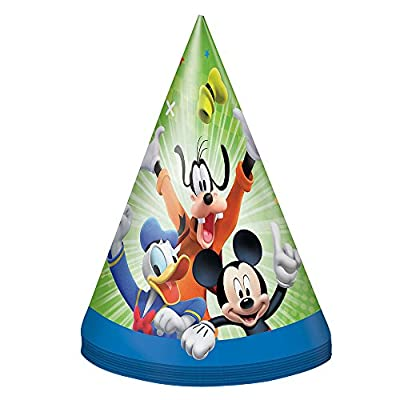 Unique Mickey and The Roadster Racers Party Hats, 8 Ct.: Toys & Games