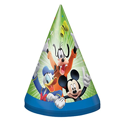 Unique Mickey and The Roadster Racers Party Hats, 8 Ct. -