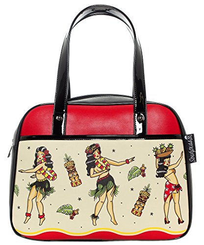 Handbag Bag Bowler (Sourpuss Hula Gals Bowler Purse)